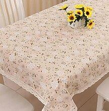 Tang Moine Dekorativ Frisch Elegant Baumwolle Quadratischer Tisch Tischdecke,B-120*170cm