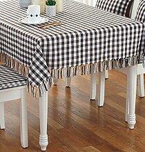 Tang Moine Einfacher Solider Anti-hot Tisch Rund Quadratisch Tisch Vorhänge Tischdecken,B-135*220CM