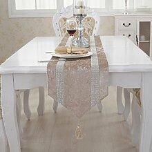 Tang Moine Europäischen Luxus Streifen Reihenbohrmaschine Tischläufer Bett Flagge Fahne Schränke Handtuch Nachläufer,C