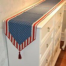 Tang Moine Flagge Tischfahne Land Tischtuch Rechteck Tischdecken Bett Flagge Überschuhe Schrank Flagge,33*245cm