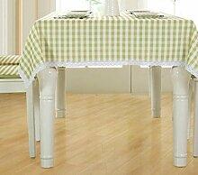 Tang Moine Frisch Einfach Gitter Wasserdicht Tischtuch Eine Rechteckige Tischdecke,150*150cm