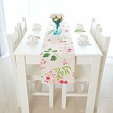Tang Moine Grad Einfach Modern Kirsche Baumwolle Doppel Signal-Tabelle Tischläufer Flagge Bett,30*180cm