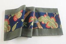 Tang Moine Handgemachte Blumen Der Natürlichen Rechteckigen Laufschuhe Schrank Flagge Bett Flagge Couchtisch Flagge,33*220cm