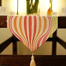 Tang Moine Haushaltswaren Handgewebte Naturfaser Baumwolle Tisch Multi-Color,Pink