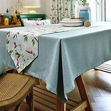Tang Moine Idyllisch Modern Einfach Ebene Baumwolle Und Leinen Tischdecken Bett Flagge Tischläufer,A-35*200cm