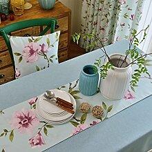 Tang Moine Idyllisch Modern Einfach Ebene Baumwolle Und Leinen Tischdecken Bett Flagge Tischläufer,B-35*160cm