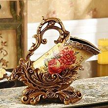 Tang Moine Im Europäischen Stil Klassisch Luxus Weinregal Ornamente Modern Haushalt Flasche Regal Wein-Accessoires,A