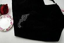 Tang Moine Im Europäischen Stil Mit Diamanten Besetzte Tischläufer Tischsets Bett Flagge Bohren Warme Mahlzeit Flagge Fahne Kaffeetisch TV-Schrank Schuhtischdecke,C-32*180cm