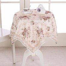 Tang moine Jacquard Garten Quadratische Tischdecke Tischdecken Decken Tischdecken,150*200cm