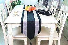 Tang Moine Luxus Im Europäischen Stil Diamant Tischläufer Bett Flagge Mode Heimtextilien Schrank Flagge,Black
