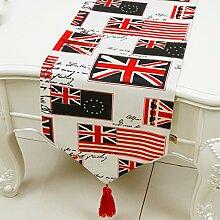 Tang Moine Mode England Union Jack Tischflaggen Tischfahnen Flagge Bett Schrank Flagge,P-33*200CM