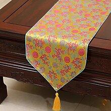 Tang Moine Mode Festlich Einfach Pastoral Brokat Tischdecken Bett Flagge Fahne Schränke Tischläufer,C-33*150cm