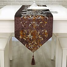 Tang Moine Modern Einfach Stilvoll Luxuriös Tisch Bett Flagge Tischläufer,A-33*210cm