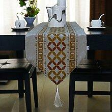 Tang Moine New Hot Stamping Vertraglich Klassische Tischläufer Tischfahne Flagge Bett Schrank Flagge,E