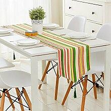 Tang Moine Nordic Baumwolle Modern Mit Blumen Geometrisch TV-Schrank Couchtisch Wohnzimmer Bett Flagge Tischläufer,C-120cm*30cm