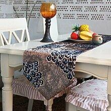 Tang Moine Pfauenfeder Tischläufer Bett Flagge Tischfahne Flagge Mahlzei