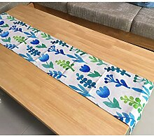 Tang Moine Pflanze Blumen Frisch Aus 100% Baumwolle Tabellen-Läufer,A