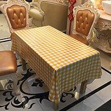 Tang Moine Plaid Einfach Atmosphärisch Haushalt Picknick Wasserdicht PVC-Tischdecke Tischtuch,137cm*250cm