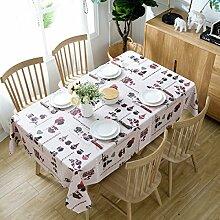 Tang moine Tischdecke Weihnachtstischdecke Plaid Wasserdicht Verbrühschutz ölbeständig Einweg Rechteckig Tischdecke Tischdecke,D-137*137cm