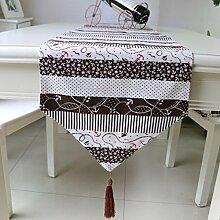 Tang Moine Tischläufer Tischläufer Leinen Tisch Zu Hause Hotelbetten Fahnen Tischfahnen Dekoration,32*220cm