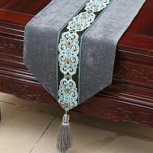 Tang Moine Upscale Klassisch Modern Luxuriös Tischdecken Bett Flagge Tischläufer,C-33*150cm