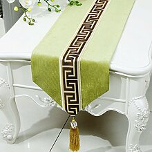 Tang Moine Upscale Klassisch Modern Luxuriös Tischdecken Bett Flagge Tischläufer,I-33*230cm