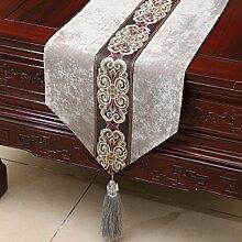 Tang Moine Upscale Klassisch Modern Luxuriös Tischdecken Bett Flagge Tischläufer,H-33*230cm