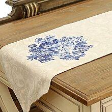 Tang Moine Weiß Blau Und Weiß Tischläufer Tischabdeckung Handtücher Tischfahne TV Gehäuseabdeckung Tuch Western Tischdecken Bett Flagge