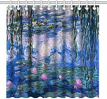 TANGGOOD 180cm x 180cm Duschvorhang Set, abstrakte