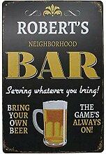 TANGGOOD Bier bar Vintage lustige wohnkultur