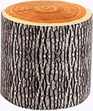 TangMengYun Einfache Holzbank Hocker kreative Früchte Tuch Schlafzimmer Wohnzimmer Stuhl Hocker vier Farben 29 * 27cm ( Farbe : Ginkgo tree )
