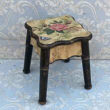 TangMengYun Europäischer einfacher hölzerner Hocker, kreativ kann für den Hocker Sofa Hocker Hocker -26 * 26 * 32cm gestapelt werden ( Color : C , Size : 26*26*32CM )