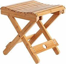 TangMengYun Hand bewegliche Klapphocker Bambus Holz Innen-und Außenhocker zwei Größen ( Farbe : A )