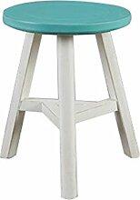 TangMengYun Kreative Massivholz Farbe Runde Tisch Dreieck Hocker Einfache Retro American 30,5 * 44cm ( Farbe : Blau )