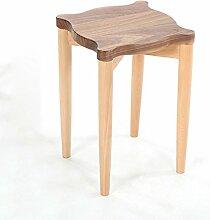 TangMengYun Kreative Mode einfach Holz Esszimmer Hocker kleine Bank stapelbar 30 * 45.5cm