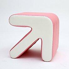 TangMengYun Kreative praktische Pfeil Hocker Kinder Teetisch Hocker Wohnzimmer Hocker hat drei Farben 40 * 36 * 40cm ( Farbe : Pink )