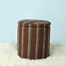 TangMengYun Mode Schuh Hocker Speicher Hocker Massivholz Stoff Sofa Hocker kleine niedliche einfache moderne kann Platz für 38 * 41cm ( Farbe : B )