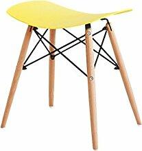 TangMengYun Moderne einfache Freizeit Hocker Wohnzimmer Stuhl Bar Hocker harte Oberfläche hat drei Farben 47 * 34,5 * 50cm ( Farbe : Gelb )