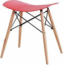TangMengYun Moderne einfache Freizeit Hocker Wohnzimmer Stuhl Bar Hocker harte Oberfläche hat drei Farben 47 * 34,5 * 50cm ( Farbe : Rot )