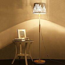 TangMengYun Moderne Holz Stehlampe, warme