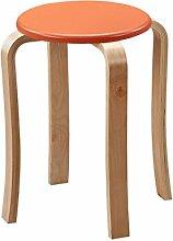 TangMengYun Moderne Mode kreative dicke Holzbank in drei Farben 30 * 47cm ( Farbe : Orange )