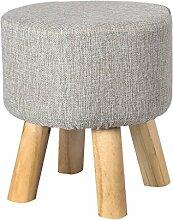 TangMengYun Moderner Massivholz-Hocker, abnehmbarer Wäsche-Tuch-Schatten, Hauptsofa-Hocker für Schuh-Hocker Erwachsener Hocker -33 * 36cm ( Color : A , Size : 33*36CM )