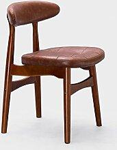 TangMengYun Nordic Creative Massivholz Stuhl, Einfache Rückenlehne Single Sofa Stuhl Esszimmer Stuhl Lounge Stuhl Kaffee Hocker Hotel Hocker ( Color : Light brown , Size : A-52*47.5*71.5cm )