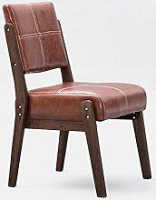 TangMengYun Nordic Creative Massivholz Stuhl, Rückenlehne Einzel Sofa Stuhl Esszimmer Stuhl Lounge Stuhl Coffee Shop Hotel Hocker Home Stuhl ( Color : Light brown , Size : A-48.5*51*83 )