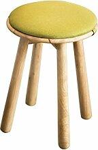 TangMengYun Nordic Tuch Solide Holzhocker, Kissen Abnehmbare, Einfache Dressing Hocker Sofa Hocker Mahlzeit Hocker -34 * 34 * 49cm ( Color : Green , Size : 34*49cm )