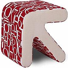 TangMengYun Pfeil Holz Hocker ändern seine Schuhe Hocker Sofa Bett Ende Hocker Hocker modernen minimalistischen 40 * 36 * 40cm ( Farbe : Rot )