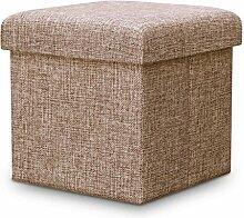 TangMengYun Schuh Hocker Falten Hocker Lagerung Hocker Leinen Stoff Multifunktionale Lagerung kann das Sofa Falten Tuch Spielzeug, 30 * 30 * 30cm, 38 * 38 * 38cm nehmen ( Farbe : B1 )