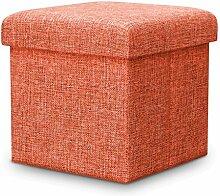 TangMengYun Schuh Hocker Falten Hocker Lagerung Hocker Leinen Stoff Multifunktionale Lagerung kann das Sofa Falten Tuch Spielzeug, 30 * 30 * 30cm, 38 * 38 * 38cm nehmen ( Farbe : A3 )