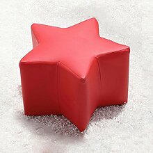 TangMengYun Sofa Hocker Massivholz Kinder für Schuh Hocker Mode Freizeit 52 * 32cm ( Farbe : Rot )