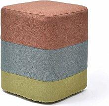 TangMengYun Solide Holzbank Hocker Sofa Stoff minimalistischen Make-up Hocker warm und lässig Atmosphäre einfach ( größe : A )
